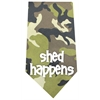 Mirage Pet Products Shed Happens Screen Print Bandana Green Camo