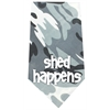 Mirage Pet Products Shed Happens Screen Print Bandana Grey Camo