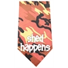 Mirage Pet Products Shed Happens Screen Print Bandana Orange Camo