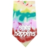 Mirage Pet Products Shed Happens Screen Print Bandana Tie Dye
