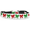 Mirage Pet Products Christmas Bows Nylon Ribbon Collar Large
