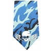 Mirage Pet Products Skull Wings Screen Print Bandana Blue Camo