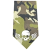 Mirage Pet Products Skull Wings Screen Print Bandana Green Camo