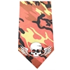 Mirage Pet Products Skull Wings Screen Print Bandana Orange Camo