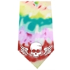 Mirage Pet Products Skull Wings Screen Print Bandana Tie Dye