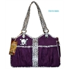 Mirage Pet Products Bone Ami Airline Pet Carrier Purple Skully