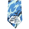 Mirage Pet Products Smarter than Most People Screen Print Bandana Blue Camo