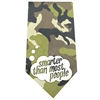 Mirage Pet Products Smarter than Most People Screen Print Bandana Green Camo