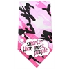 Mirage Pet Products Smarter than Most People Screen Print Bandana Pink Camo