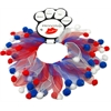 Mirage Pet Products Red, White and Blue Fuzzy Smoochers Large RWB