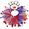 Mirage Pet Products Red, White and Blue Star Smoochers  Large RWB