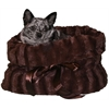 Mirage Pet Products Brown Reversible Snuggle Bugs Pet Bed, Bag, and Car Seat in One