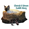 Mirage Pet Products Cheetah Reversible Snuggle Bugs Pet Bed, Bag, and Car Seat in One
