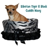 Mirage Pet Products Siberian Tiger Reversible Snuggle Bugs Pet Bed, Bag, and Car Seat in One
