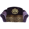 Mirage Pet Products Royal Purple with Leopard Interior Pull Out Pet Sleeper Sofa Bed