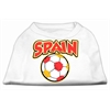 Mirage Pet Products Spain Soccer Screen Print Shirt White 4x (22)