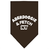 Mirage Pet Products Aberdoggie NY Screen Print Bandana Cocoa Large