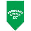 Mirage Pet Products Aberdoggie NY Screen Print Bandana Emerald Green Large