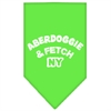 Mirage Pet Products Aberdoggie NY Screen Print Bandana Lime Green Small
