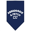 Mirage Pet Products Aberdoggie NY Screen Print Bandana Navy Blue large