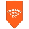 Mirage Pet Products Aberdoggie NY Screen Print Bandana Orange Large
