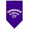 Mirage Pet Products Aberdoggie NY Screen Print Bandana Purple Large