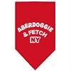 Mirage Pet Products Aberdoggie NY Screen Print Bandana Red Large