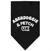 Mirage Pet Products Aberdoggie UK Screen Print Bandana Black Small