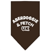 Mirage Pet Products Aberdoggie UK Screen Print Bandana Cocoa Large