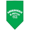 Mirage Pet Products Aberdoggie UK Screen Print Bandana Emerald Green Large