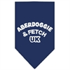 Mirage Pet Products Aberdoggie UK Screen Print Bandana Navy Blue large