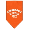 Mirage Pet Products Aberdoggie UK Screen Print Bandana Orange Small