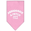 Mirage Pet Products Aberdoggie UK Screen Print Bandana Light Pink Large