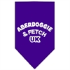 Mirage Pet Products Aberdoggie UK Screen Print Bandana Purple Large