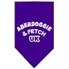 Mirage Pet Products Aberdoggie UK Screen Print Bandana Purple Large