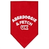 Mirage Pet Products Aberdoggie UK Screen Print Bandana Red Large