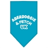 Mirage Pet Products Aberdoggie UK Screen Print Bandana Turquoise Large