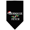 Mirage Pet Products Aberdoggie Christmas Screen Print Bandana Black Large