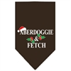 Mirage Pet Products Aberdoggie Christmas Screen Print Bandana Cocoa Large