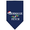 Mirage Pet Products Aberdoggie Christmas Screen Print Bandana Navy Blue large