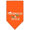 Mirage Pet Products Aberdoggie Christmas Screen Print Bandana Orange Large