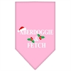 Mirage Pet Products Aberdoggie Christmas Screen Print Bandana Light Pink Large