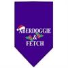 Mirage Pet Products Aberdoggie Christmas Screen Print Bandana Purple Large