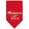 Mirage Pet Products Aberdoggie Christmas Screen Print Bandana Red Small