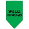 Mirage Pet Products It's All About Me Screen Print Bandana Emerald Green Large