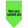 Mirage Pet Products It's All About Me Screen Print Bandana Lime Green Small