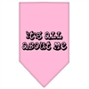 Mirage Pet Products It's All About Me Screen Print Bandana Light Pink Large