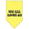 Mirage Pet Products It's All About Me Screen Print Bandana Yellow Large