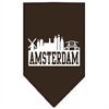 Mirage Pet Products Amsterdam Skyline Screen Print Bandana Cocoa Small