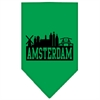 Mirage Pet Products Amsterdam Skyline Screen Print Bandana Emerald Green Small